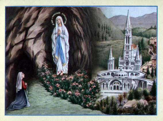 L'Immacolata e il S. Rosario (Lourdes 1858)